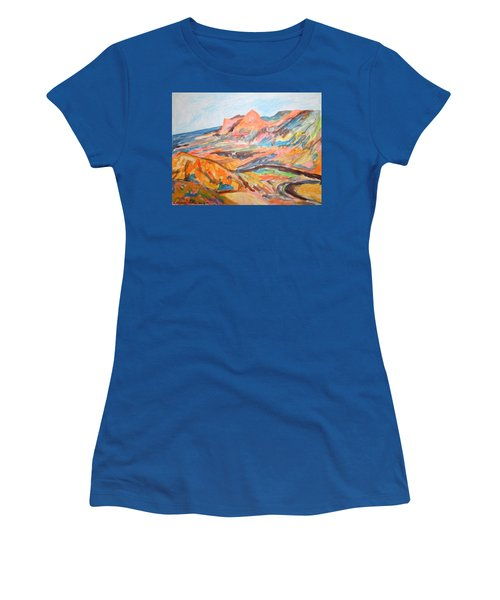 Hills Flowing Down To The Beach Women's T-Shirt (Junior Cut) by Esther Newman-Cohen