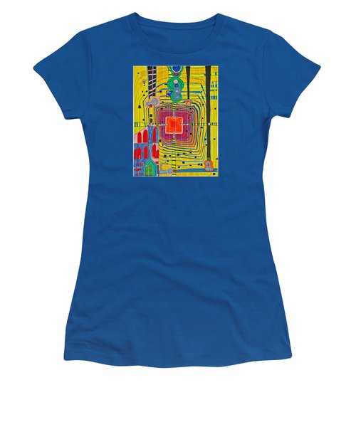 Hundertwassers Close Up Of Infinity Tagores Sun Women's T-Shirt (Athletic Fit)