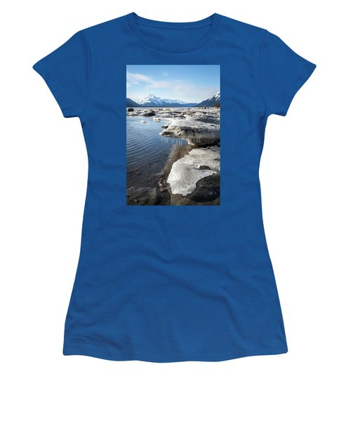 Ice Chunks In The Chilkat Estuary Women's T-Shirt (Athletic Fit)