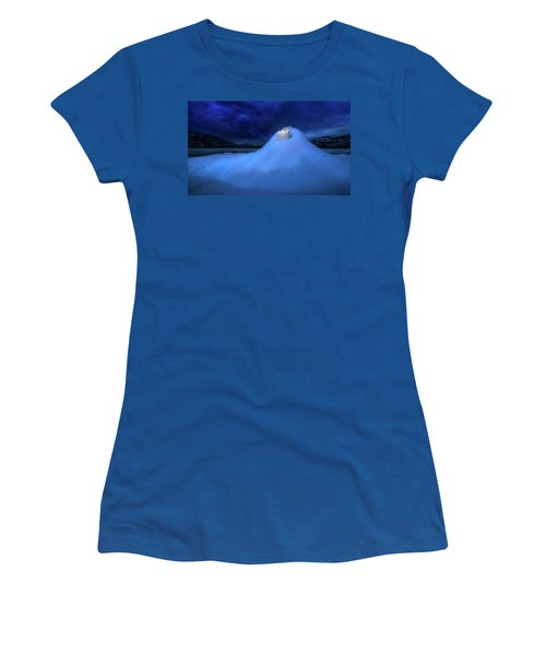 Women's T-Shirt (Athletic Fit) featuring the photograph Ice Volcano by John Poon