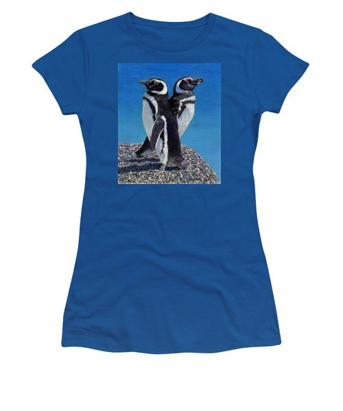 I'm Not Talking To You - Penguins Women's T-Shirt (Junior Cut) by Patricia Barmatz
