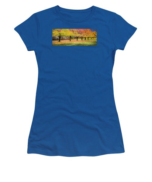 Women's T-Shirt (Junior Cut) featuring the photograph Impressionist Autumn by Theresa Tahara