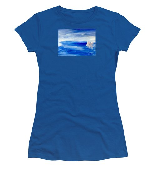 Women's T-Shirt (Junior Cut) featuring the painting In This Sea Of Life by Trilby Cole