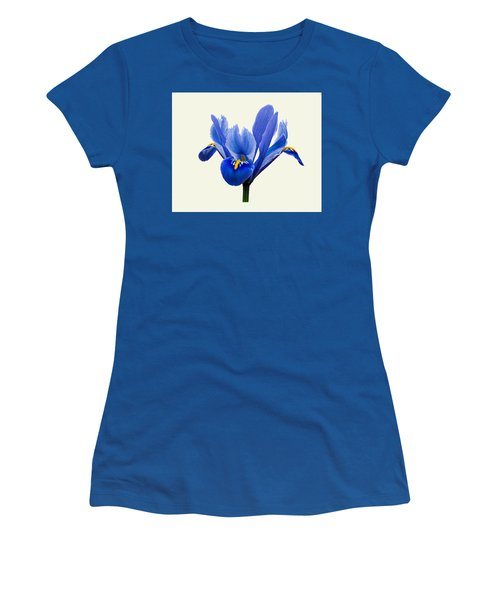 Iris Reticulata, Cream Background Women's T-Shirt (Athletic Fit)