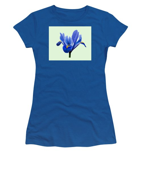 Iris Reticulata, Green Background Women's T-Shirt (Athletic Fit)