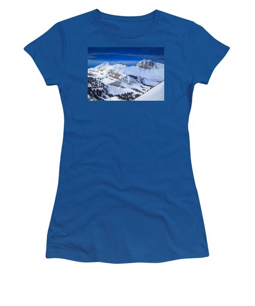 Jackson Hole, Wyoming Winter Women's T-Shirt (Athletic Fit)