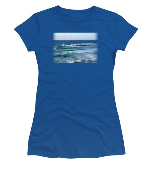 Jaffa Beach T-shirt Women's T-Shirt (Junior Cut) by Isam Awad