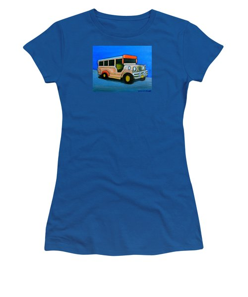Jeepney Women's T-Shirt (Junior Cut) by Cyril Maza