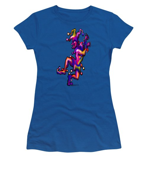 Jester On Blue Women's T-Shirt (Junior Cut) by Kevin Middleton