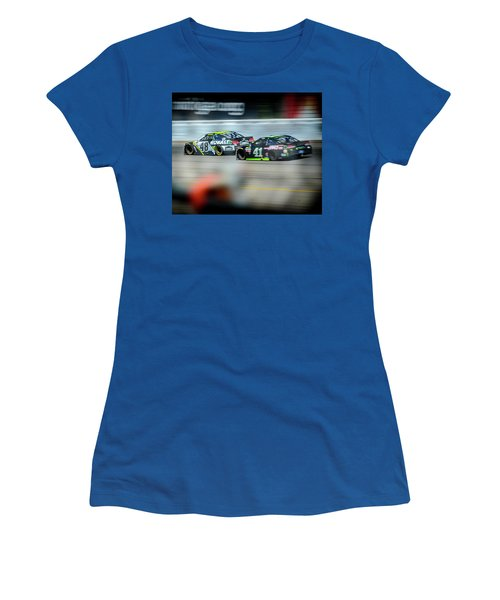 Jimmie Johnson Charging Ahead At Mis Women's T-Shirt (Athletic Fit)