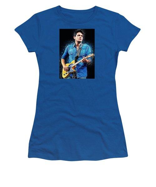 John Mayer Women's T-Shirt (Junior Cut) by Taylan Apukovska