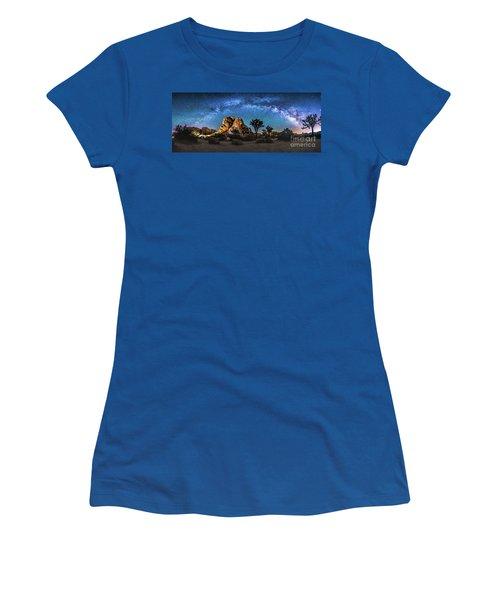 Joshua Tree Milkyway Women's T-Shirt (Junior Cut) by Robert Loe