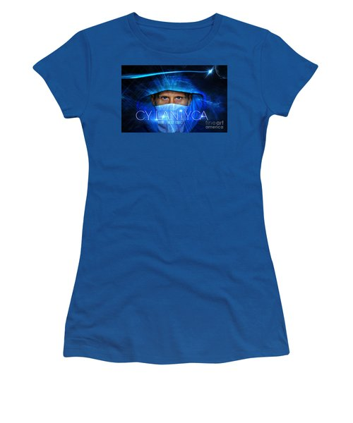 Women's T-Shirt (Junior Cut) featuring the painting Just An Advertisement by Cyryn Fyrcyd