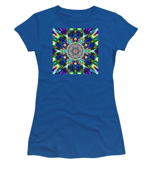 Women's T-Shirt featuring the digital art Jyoti Ahau 86 by Robert Thalmeier
