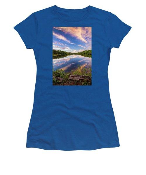 Kahler's Pond Clouds Women's T-Shirt (Athletic Fit)