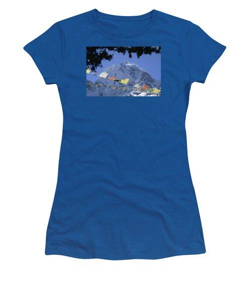 Kang Tega Nepal Women's T-Shirt (Junior Cut) by Rudi Prott
