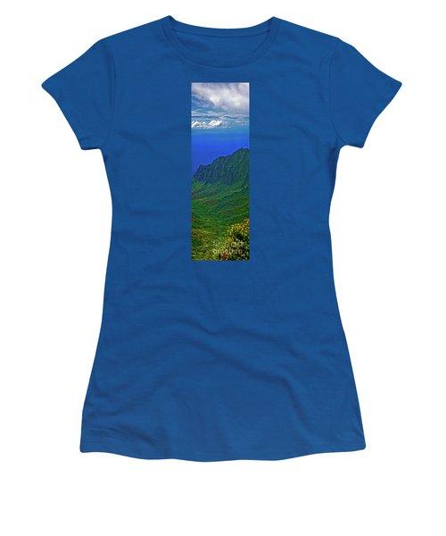 Kauai  Napali Coast State Wilderness Park Women's T-Shirt (Junior Cut) by Tom Jelen