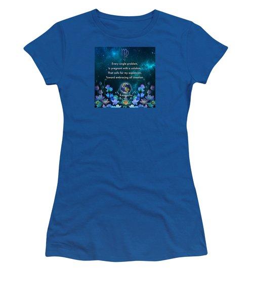 Kaypacha's Mantra 10.28.2015 Women's T-Shirt (Junior Cut)