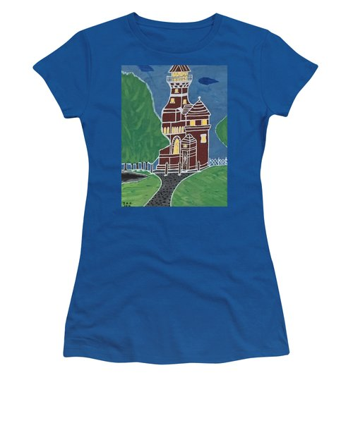 Kiel Germany Lighthouse. Women's T-Shirt (Junior Cut) by Jonathon Hansen