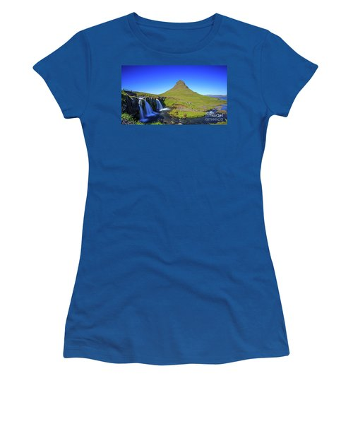 Women's T-Shirt (Athletic Fit) featuring the photograph Kirkjufell Iceland by Edward Fielding