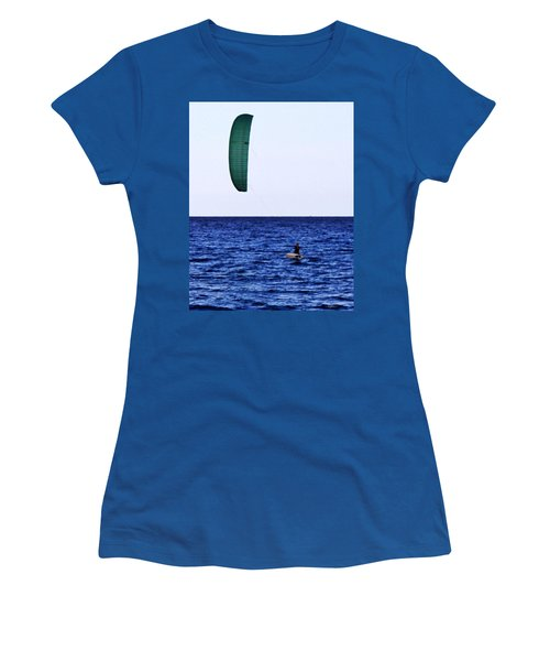 Kite Board Women's T-Shirt (Athletic Fit)