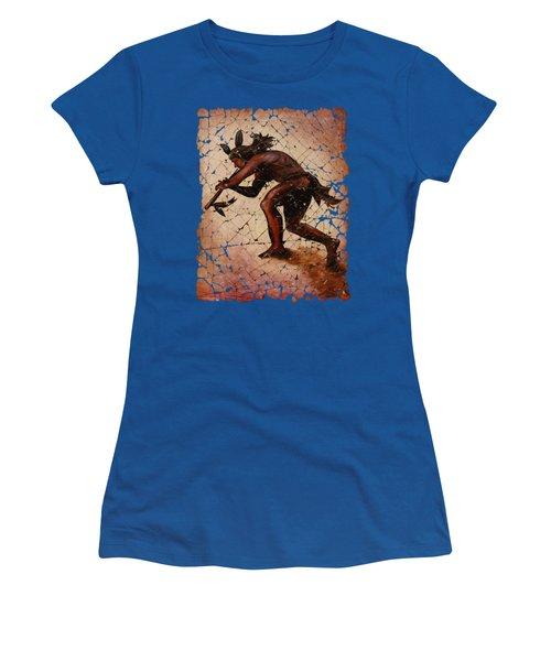 Kokopelli Flute Player Women's T-Shirt (Athletic Fit)
