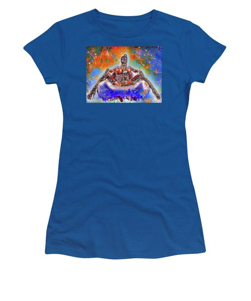 Women's T-Shirt featuring the mixed media Lady In Latex by Al Matra