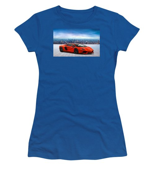 Lambo Cityscape Women's T-Shirt (Junior Cut) by Peter Chilelli