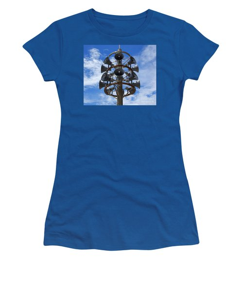 Women's T-Shirt (Athletic Fit) featuring the photograph Large Public Address System by Yali Shi