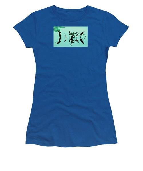 Leaves And Dragonflies 2 Women's T-Shirt (Junior Cut) by David Gilbert