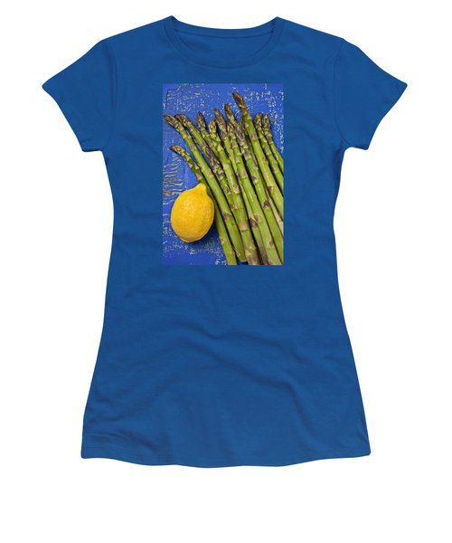 Lemon And Asparagus  Women's T-Shirt (Athletic Fit)