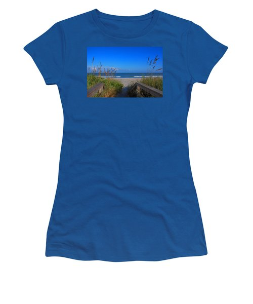 Lets Go To The Beach Women's T-Shirt (Athletic Fit)