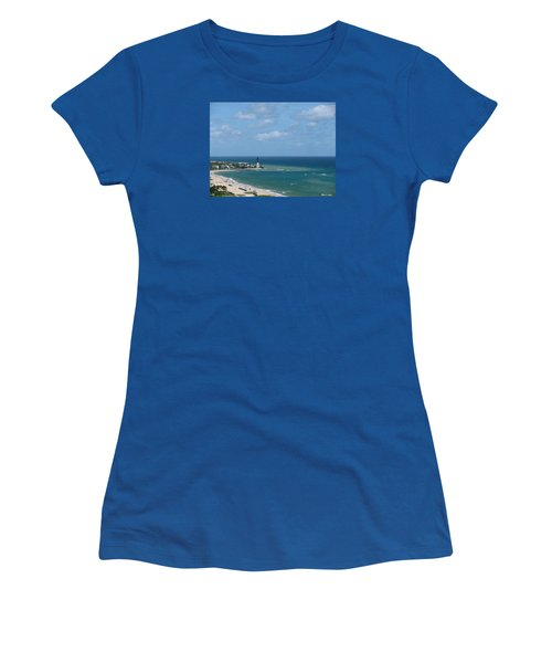 Lighthouse And Kiteboarding Women's T-Shirt (Athletic Fit)
