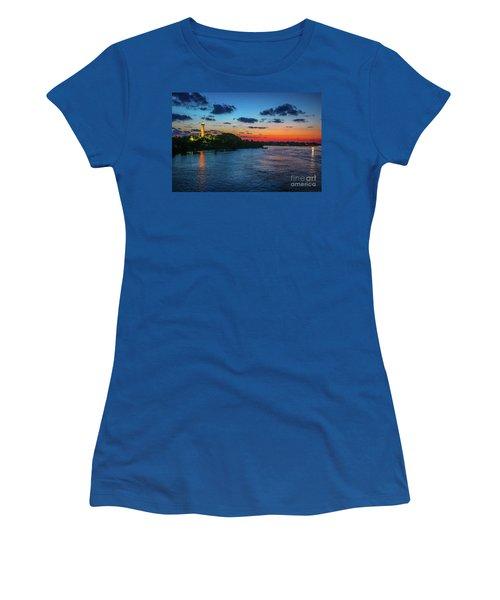 Lighthouse Light Beam Women's T-Shirt (Junior Cut) by Tom Claud