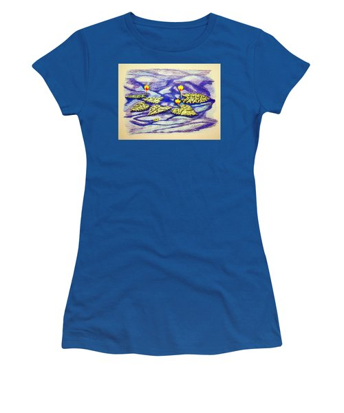 Lily Pad Pond Women's T-Shirt (Athletic Fit)