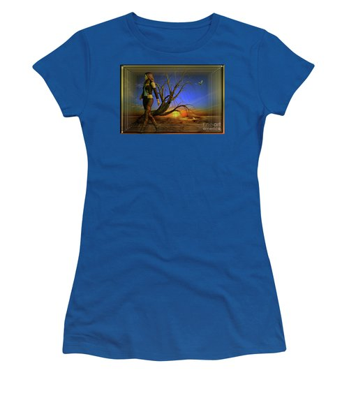 Living On The Edge Women's T-Shirt (Junior Cut) by Shadowlea Is