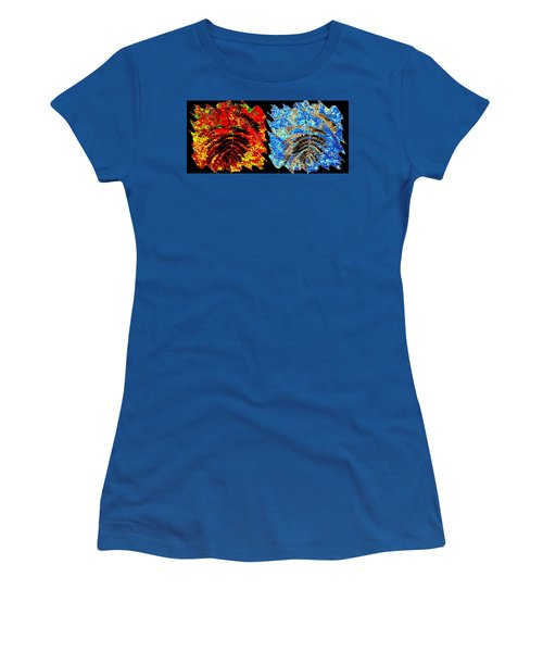 Women's T-Shirt (Athletic Fit) featuring the mixed media   Locust Leaves Abstract Fusion by Will Borden