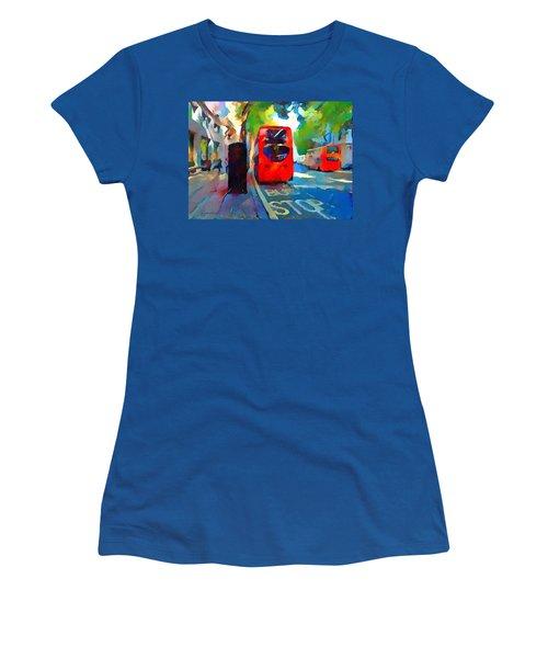 London Bus Stop Women's T-Shirt (Athletic Fit)