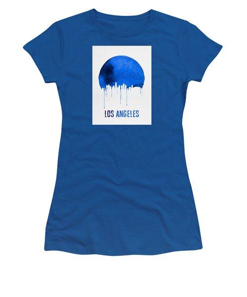 Los Angeles Skyline Blue Women's T-Shirt (Junior Cut) by Naxart Studio