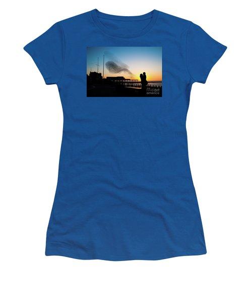 Love Birds At Sunset Women's T-Shirt