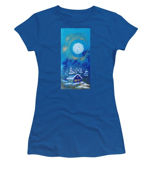 Magical Night At The Cabin Women's T-Shirt (Athletic Fit)