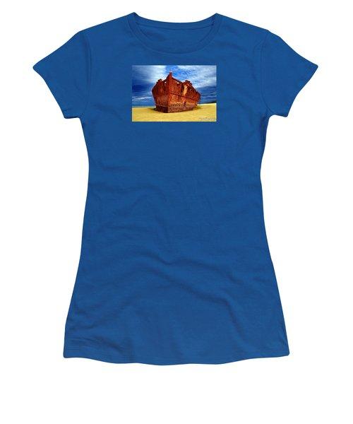 Women's T-Shirt (Junior Cut) featuring the photograph Maheno Shipwreck Fraser Island Queensland Australia by Gary Crockett