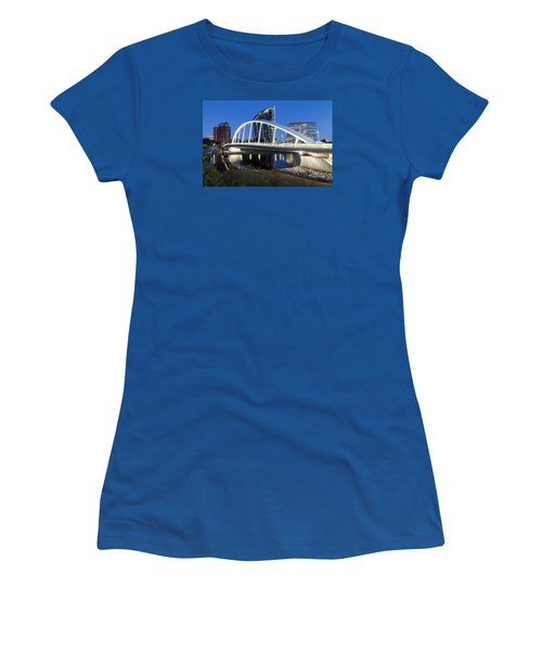 Main Street Bridge Columbus Women's T-Shirt (Athletic Fit)