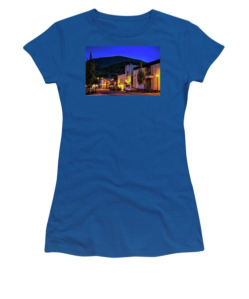 Main Street Lights Women's T-Shirt (Junior Cut) by Dale R Carlson