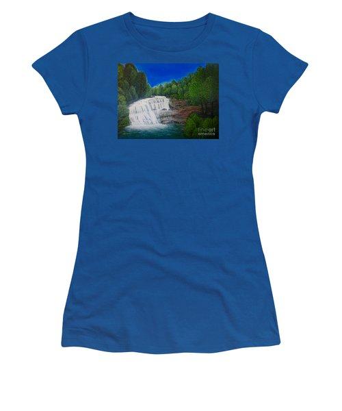 Majestic Bald River Falls Of Appalachia II Women's T-Shirt (Junior Cut) by Kimberlee Baxter