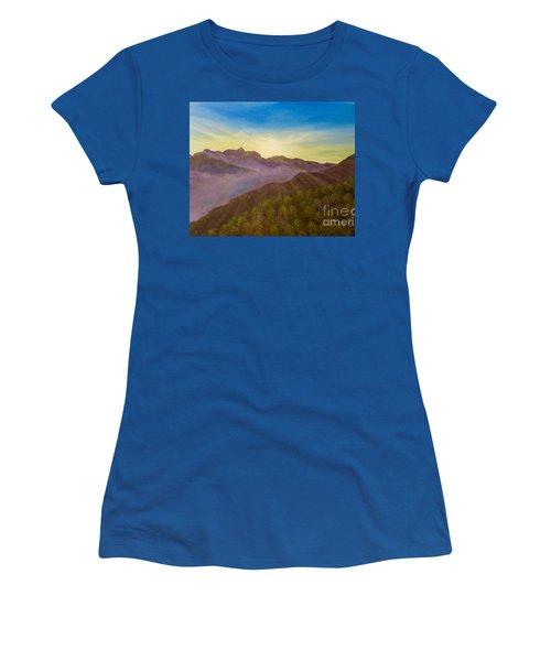 Majestic Morning Sunrise Women's T-Shirt (Athletic Fit)