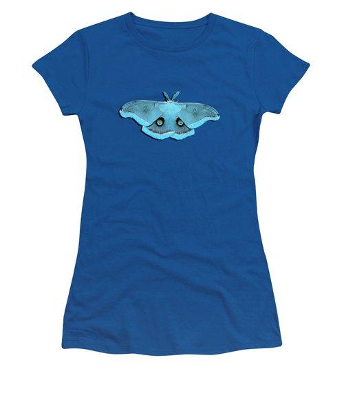 Male Moth Aqua .png Women's T-Shirt (Junior Cut) by Al Powell Photography USA