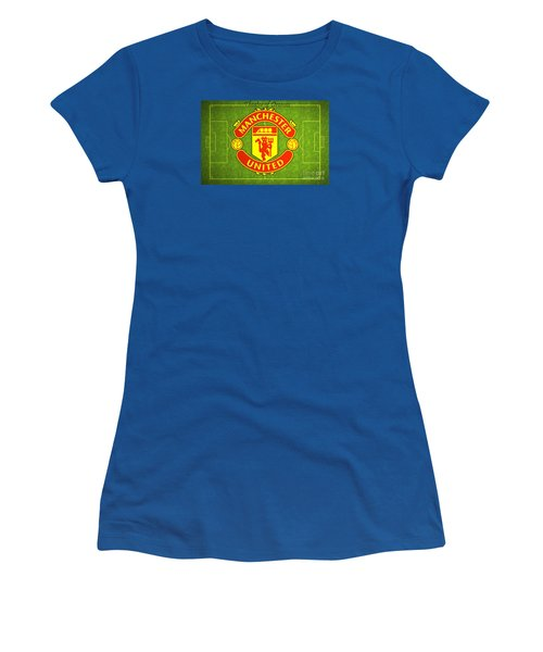 Manchester United Theater Of Dreams Large Canvas Art, Canvas Print, Large Art, Large Wall Decor Women's T-Shirt (Junior Cut) by David Millenheft