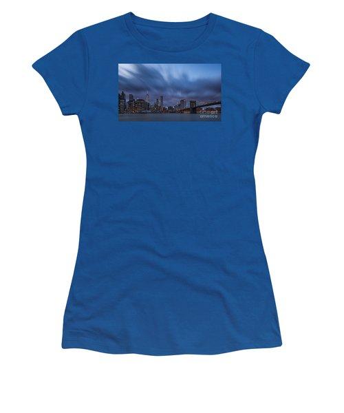 Manhattan And Brooklyn Bridge Women's T-Shirt