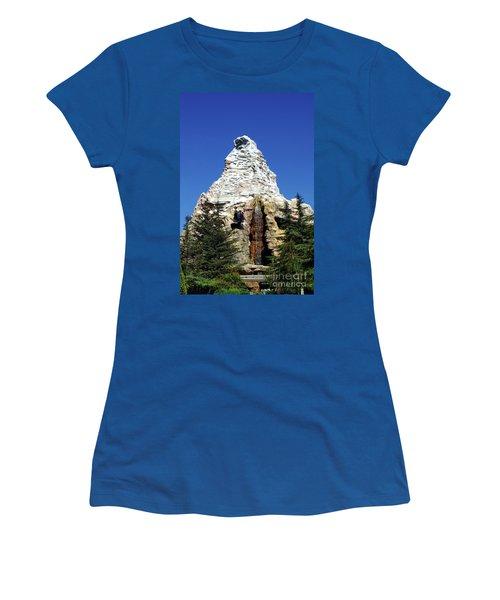 Matterhorn Disneyland Women's T-Shirt (Junior Cut) by Mariola Bitner